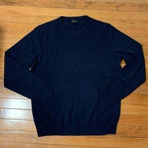 Men's J. crew Navy cashmere crewneck sweater size M